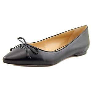 Coach Radiant Black Leather Ballet Flats Sz 7.5